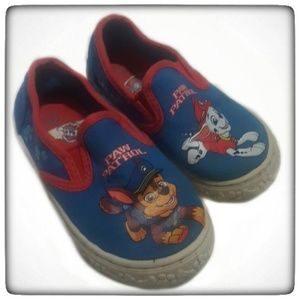 41dd43d23232 Paw Patrol Canvas Shoes Marshall and Chase Size 7